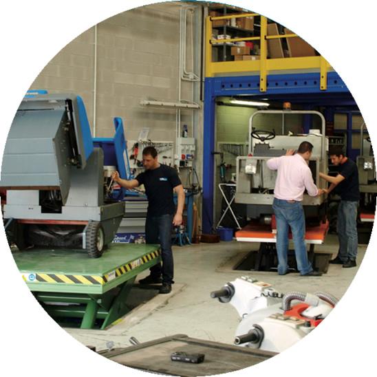 Officina macchine pulizia industriale