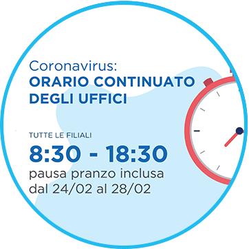 Emergenza Coronavirus - orario continuato
