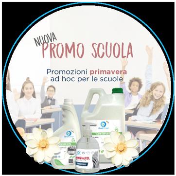 Forniture e distribuzione prodotti igienizzanti e di pulizia per la scuola - Settembre - Ottobre 2021