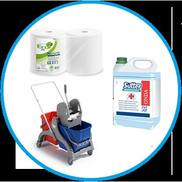 Vendita online Detergenti, carta e dispenser, attrezzature per la pulizia professionale