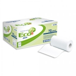 CARTA E DISPENSER | ASCIUGAMANI A ROTOLO ECO NATURAL LUCART 70 JOINT 2 VELI - LUCART